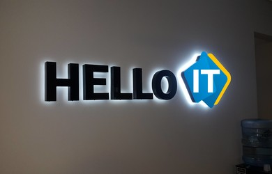 HelloIT led logo  Ceros.LV