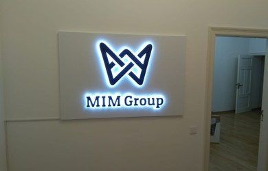 MIM group LED logo Ceros.LV